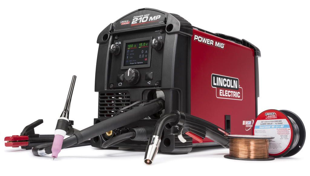 Lincoln K4195-2 Power MIG 210 MP Multi Process Welder W/ TIG One-Pak (1 each)