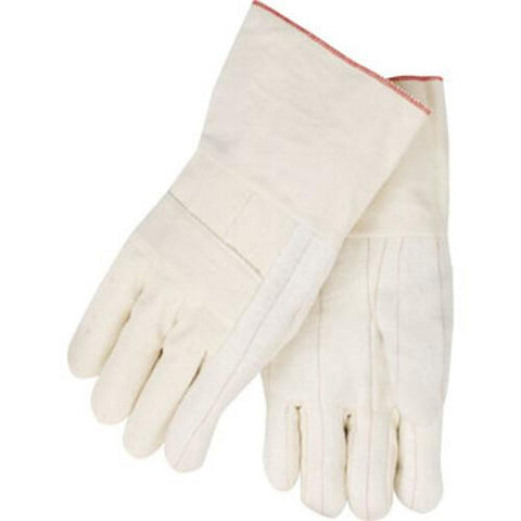 Revco 1424 24 oz. Long Cuff Cotton Hot Mill Industrial Glove (1 Pair)