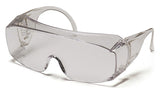 Pyramex S510SJ Solo Clear Jumbo Safety Glasses W/ Clear- Over Prescription Lens (12 each)