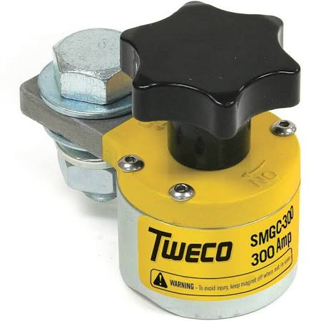 Tweco SMGC300 (9255-1061) 300A Switchable Magnetic Ground Clamp (1 Ground Clamp)
