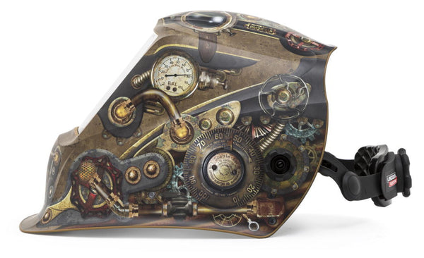View The Lincoln 3350 Steampunk Viking Welding Helmet