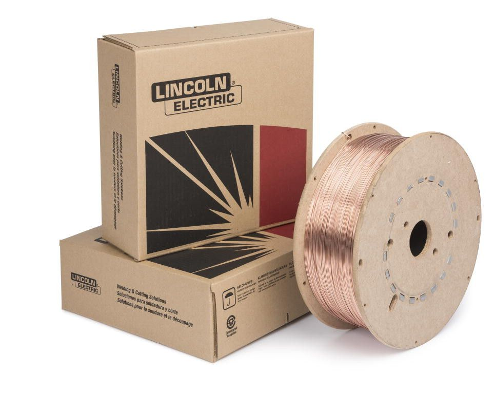"Lincoln ED021274 0.35"" SuperArc L-56 MIG Wire (44lb Fiber Spool)"