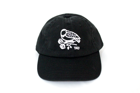Unstructured 6-panel Black hat made in USA hand screen printed in partnership with Together 4 Oregon