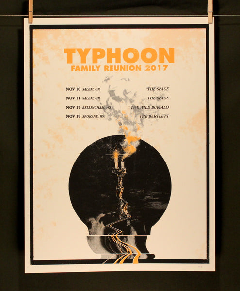 Typhoon Tour Poster