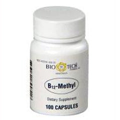 B12 Methyl, 1,000 micrograms, 100 capsules