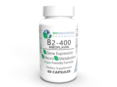 Vitamin B2 Riboflavin, 400 mg, 60 vegetable capsules