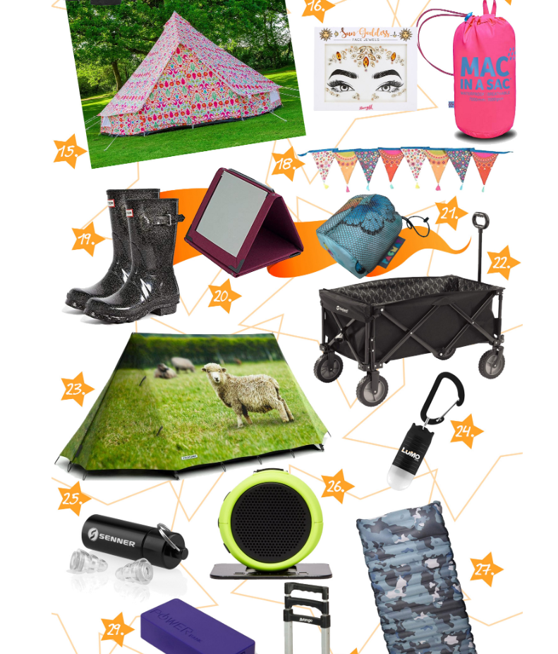 30 Festival Camping Must Haves 2019