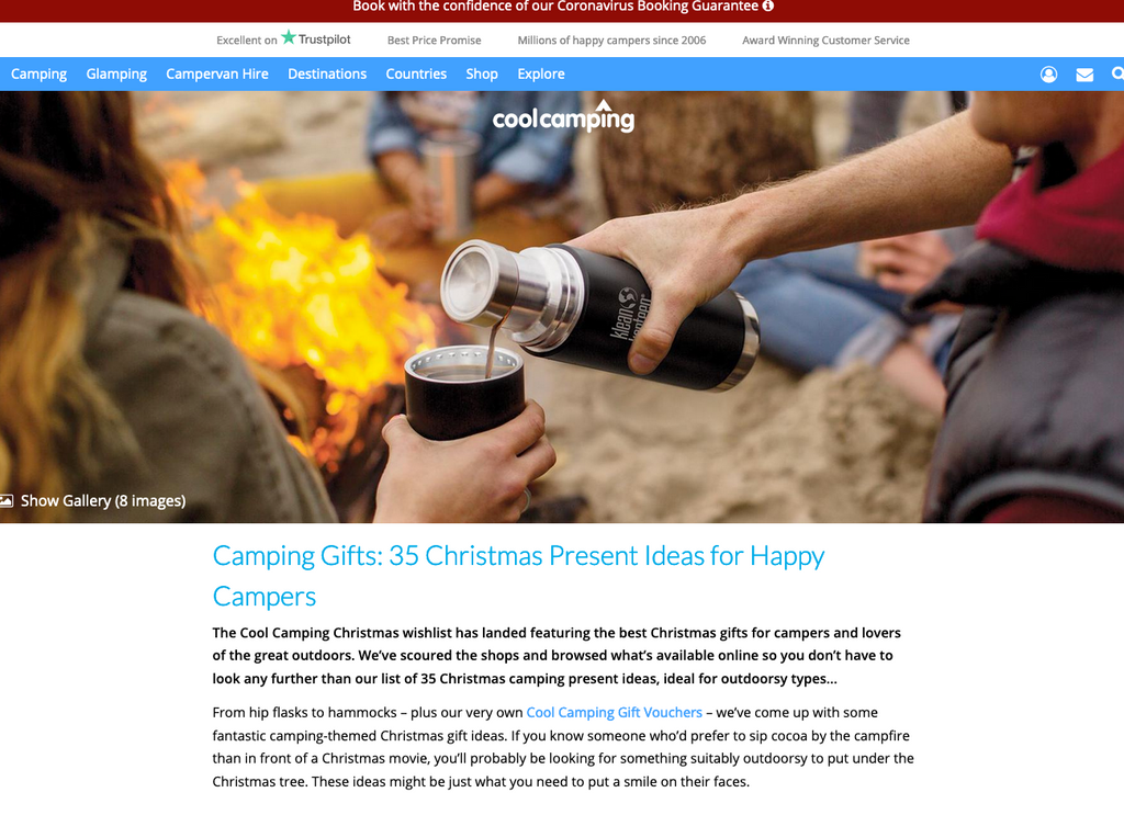 Christmas Present Ideas for Happy Campers