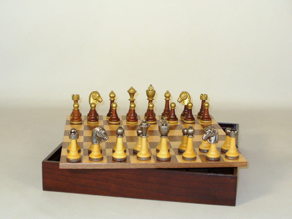 Wood & Metal Men Wood Chest - ChessWarehouse - 1