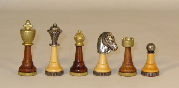 Small Staunton Wood and Metal Men - ChessWarehouse