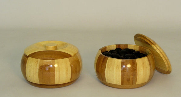 8mm Glass Stones with Bamboo Bowls - ChessWarehouse