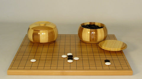 Bamboo Go Set w/Bamboo Bowls - ChessWarehouse