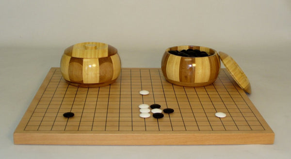 Go Set with Inlaid Bamboo Bowls - ChessWarehouse