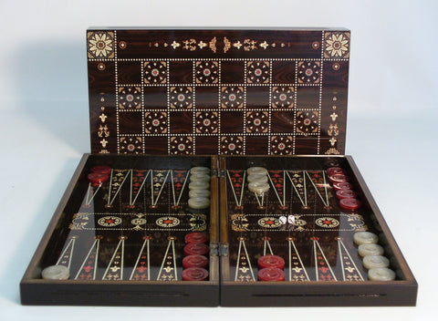 Floral Decoupage Backgammon - ChessWarehouse