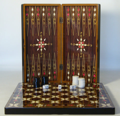 Pistachio Cluster Decoupage Backgammon - ChessWarehouse - 1