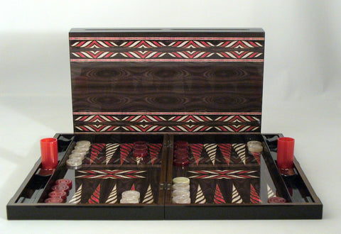 Red & Ivory Native Design - ChessWarehouse