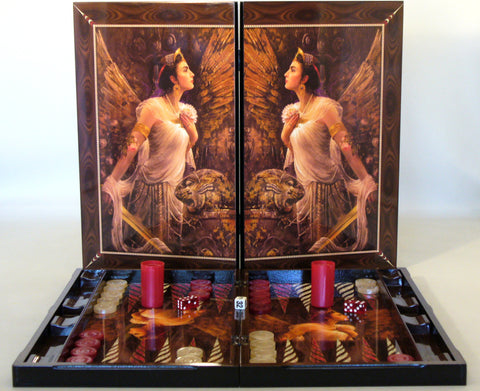 Artemis Decoupage Backgammon - ChessWarehouse - 1