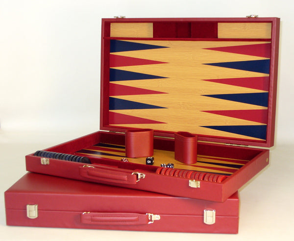 Burgundy Tournament Backgammon - ChessWarehouse