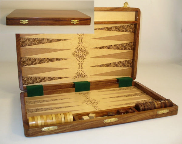 Etched Wood Backgammon - ChessWarehouse