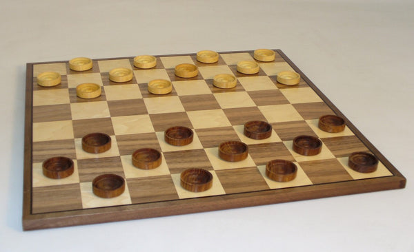 Wood Stackable Checker Set - ChessWarehouse - 1