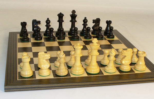 Small Black French on Ebony Veneer Board - ChessWarehouse