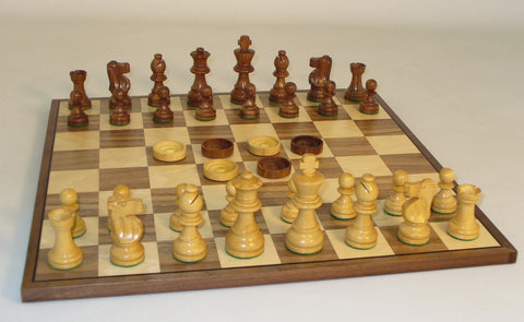 French Chess & Checker Set - ChessWarehouse