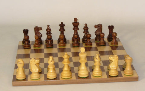 Small Sheesham French-Walnut Basic Board - ChessWarehouse - 1