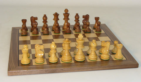 Small Sheesham French on Walnut Board - ChessWarehouse - 1