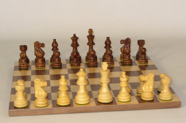 French Lardy-Walnut Basic Board - ChessWarehouse - 1