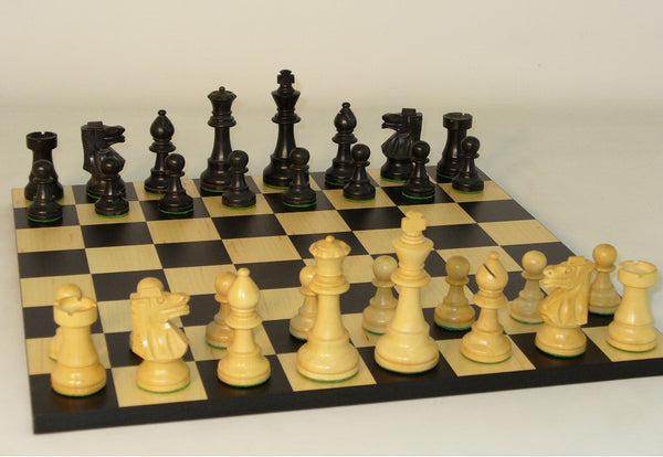 Black French on Black/Maple Basic Board - ChessWarehouse