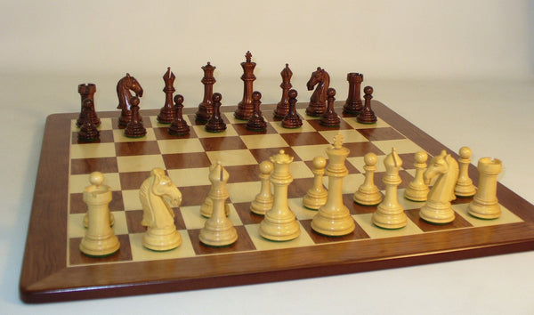 Rosewood Camelot on Padauk Board - ChessWarehouse