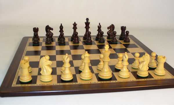 Rosewood Pro on Ebony Birdseye Board - ChessWarehouse