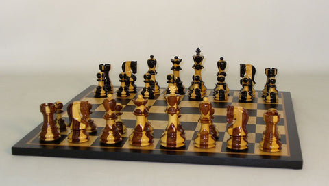 Inlaid Russian on Black Birdseye Board - ChessWarehouse