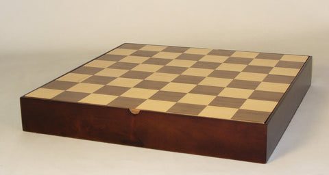 "13.5"" Walnut & Veneer Chest - ChessWarehouse - 1"