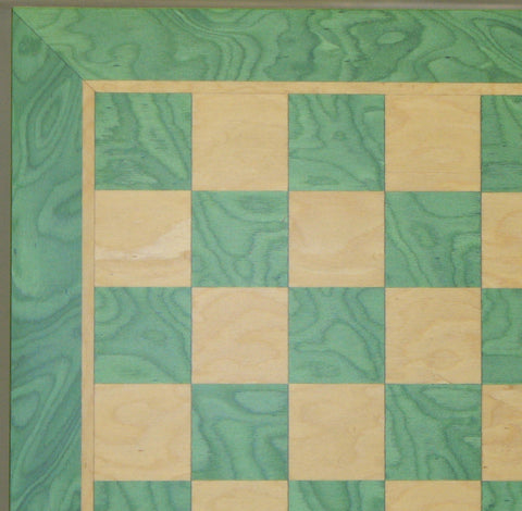 "15.5"" Green & Tan Veneer Board - ChessWarehouse - 1"