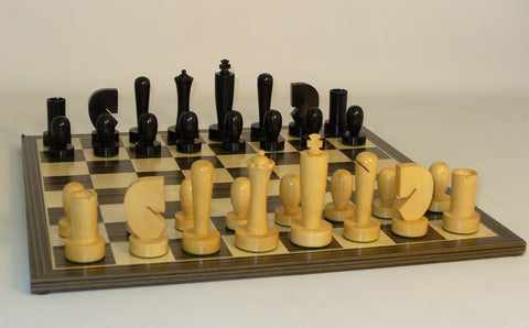 Black Berliner on Ebony Veneer Board - ChessWarehouse - 3