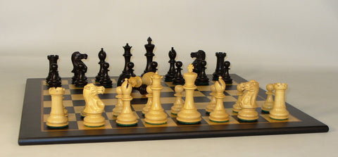 Black New Classic on Black Madrona Board - ChessWarehouse - 1