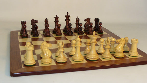 Rosewood Exclusive on Padauk Board - ChessWarehouse - 1