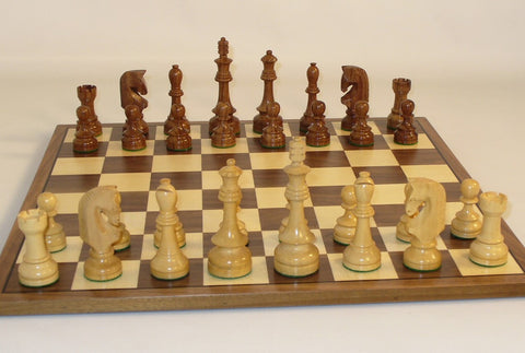 Traditional Russian on Walnut Board - ChessWarehouse