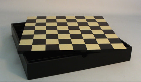 "16.25"" Black & Maple Chest - ChessWarehouse - 1"