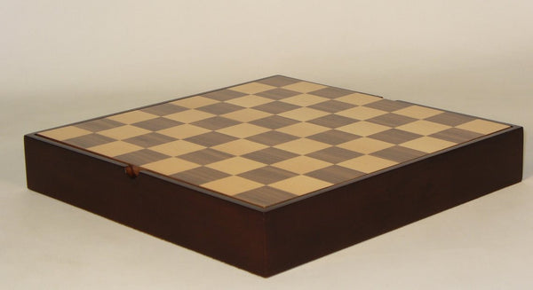 "16.25"" Walnut & Maple Veneer Chest - ChessWarehouse - 1"