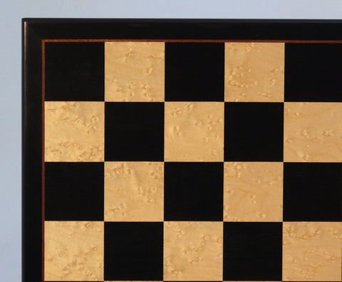 "17"" Black & Birdseye Maple Veneer Board - ChessWarehouse"