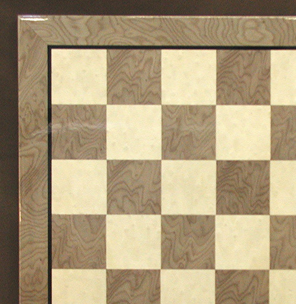 "17"" Grey & Ivory Glossy Board - ChessWarehouse - 1"