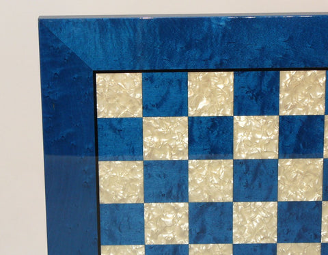 Blue & Mother of Pearl Board - ChessWarehouse - 1
