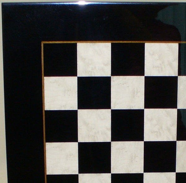 Black and White Wood Veneer Board - ChessWarehouse