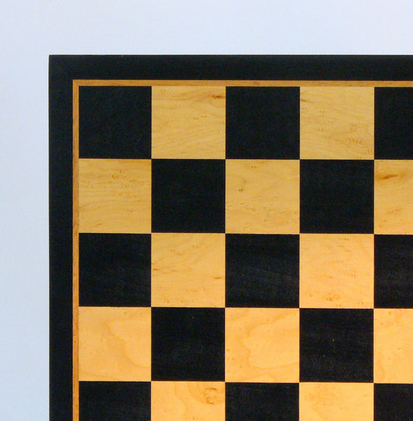 "21"" Black & Birdseye Maple Board - ChessWarehouse"