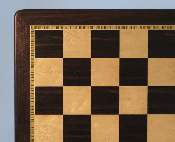 "21"" Ebony & Birdseye Maple Board - ChessWarehouse - 1"