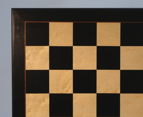 "22"" Black & Birdseye Maple Veneer Board - ChessWarehouse"