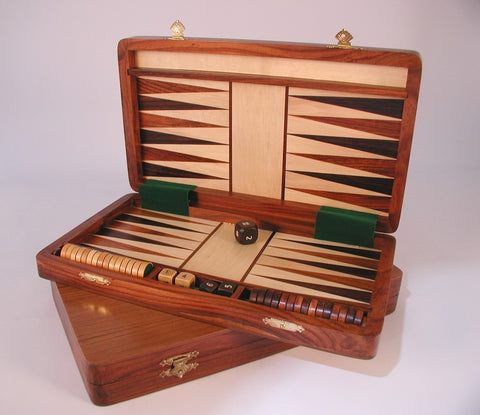 Wood Magnetic Backgammon - ChessWarehouse