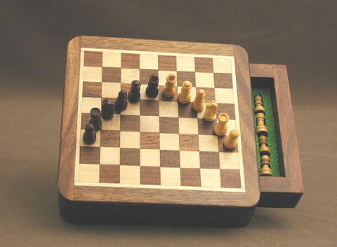 "5"" Wood Magnetic Chess - ChessWarehouse - 1"